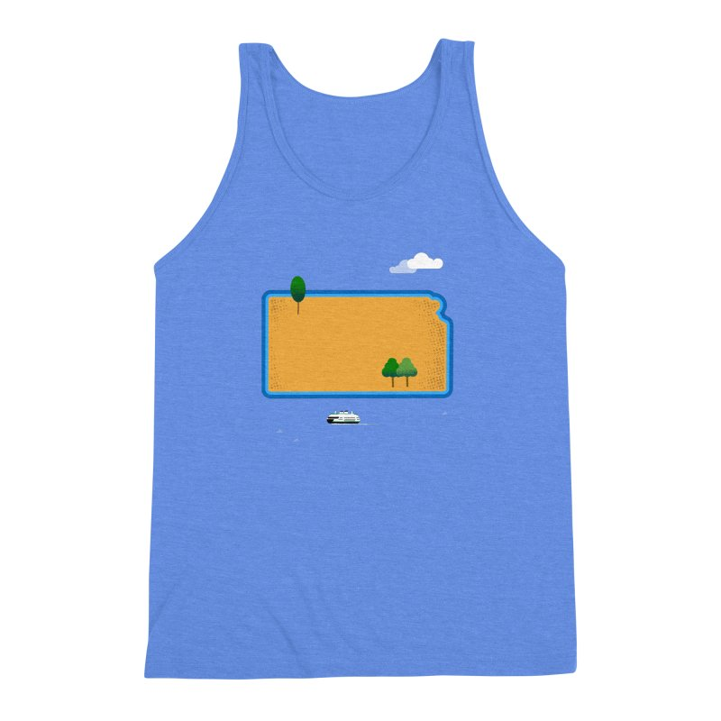 Kansas Island Men's Triblend Tank by Illustrations by Phil