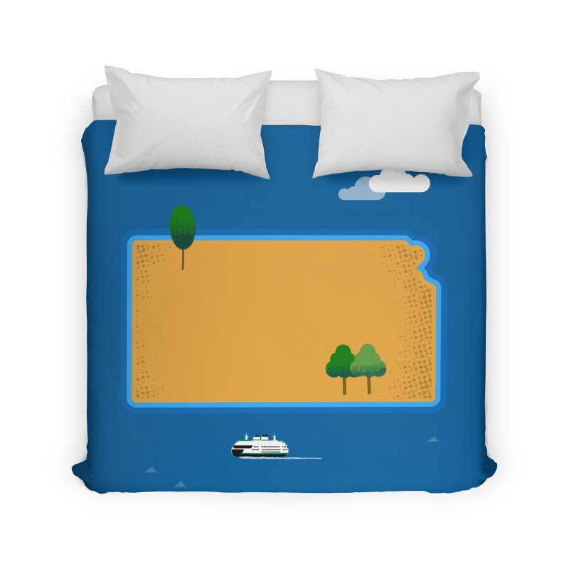 Kansas Island Home Duvet by Illustrations by Phil