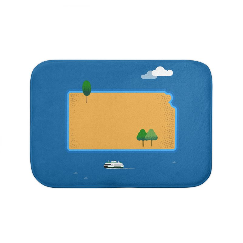 Kansas Island Home Bath Mat by Illustrations by Phil