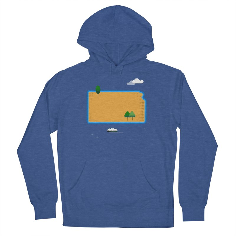 Kansas Island Women's French Terry Pullover Hoody by Illustrations by Phil