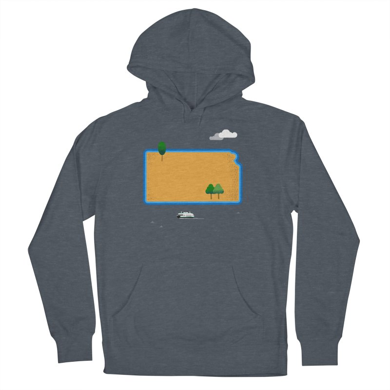 Kansas Island Men's French Terry Pullover Hoody by Illustrations by Phil