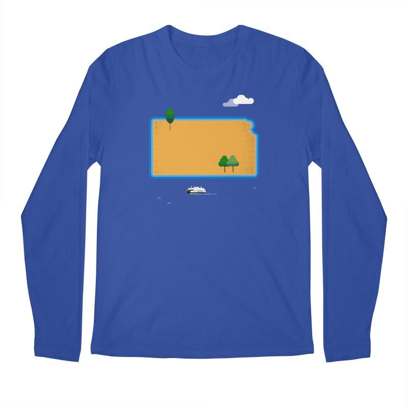 Kansas Island Men's Regular Longsleeve T-Shirt by Illustrations by Phil