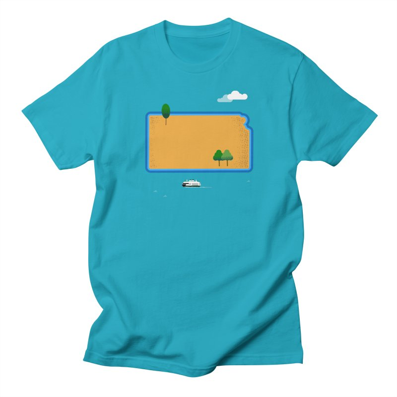 Kansas Island Men's T-Shirt by Illustrations by Phil