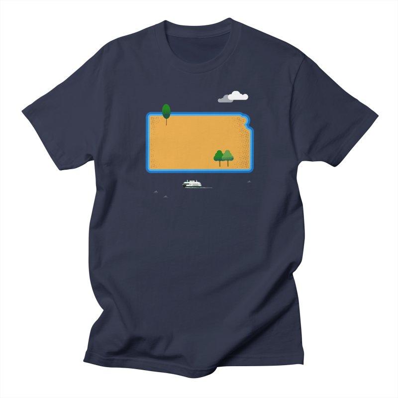 Kansas Island Women's Regular Unisex T-Shirt by Illustrations by Phil