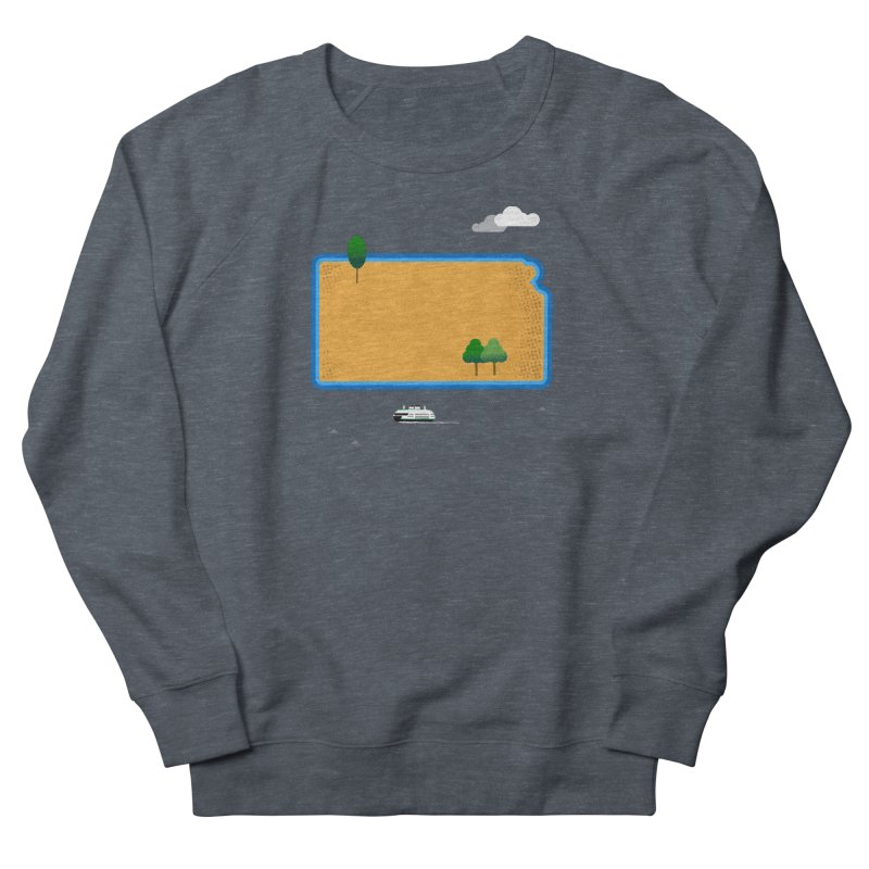 Kansas Island Men's French Terry Sweatshirt by Illustrations by Phil