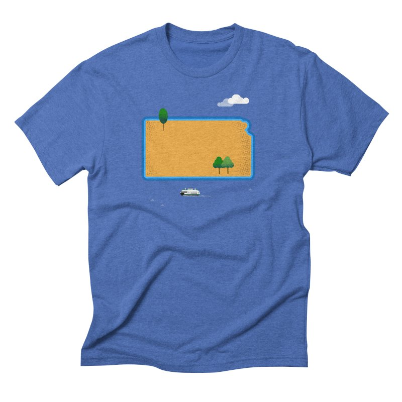 Kansas Island Men's Triblend T-Shirt by Illustrations by Phil