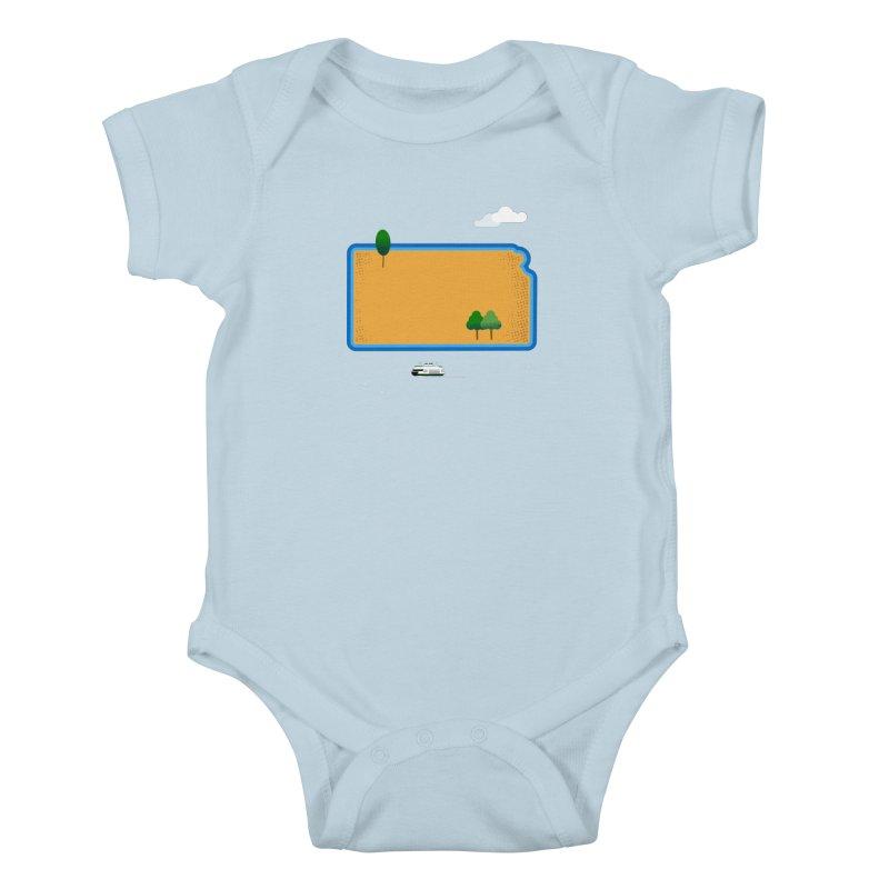 Kansas Island Kids Baby Bodysuit by Illustrations by Phil