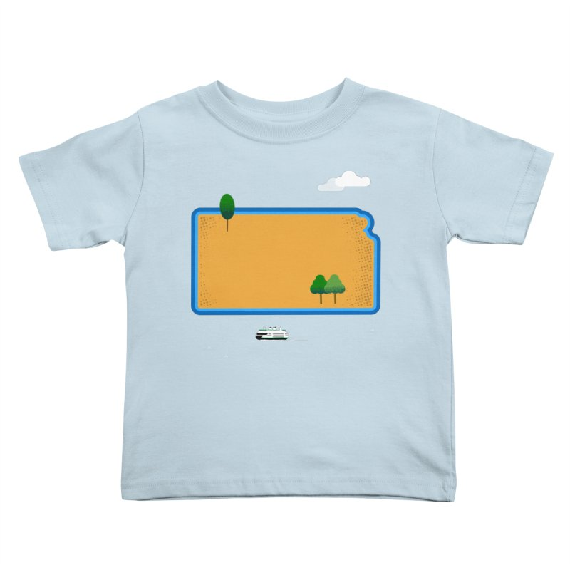Kansas Island Kids Toddler T-Shirt by Illustrations by Phil