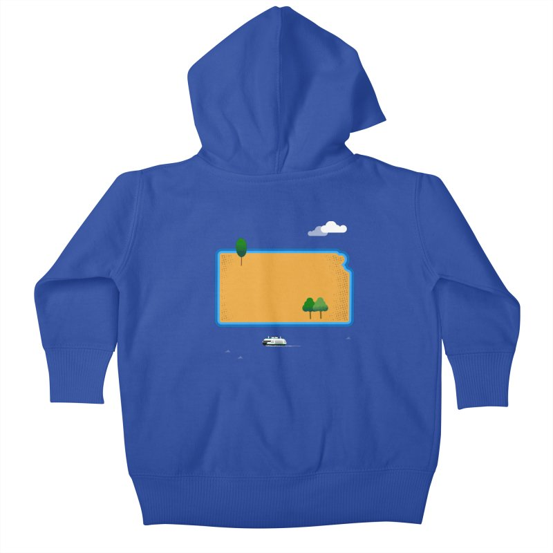 Kansas Island Kids Baby Zip-Up Hoody by Illustrations by Phil