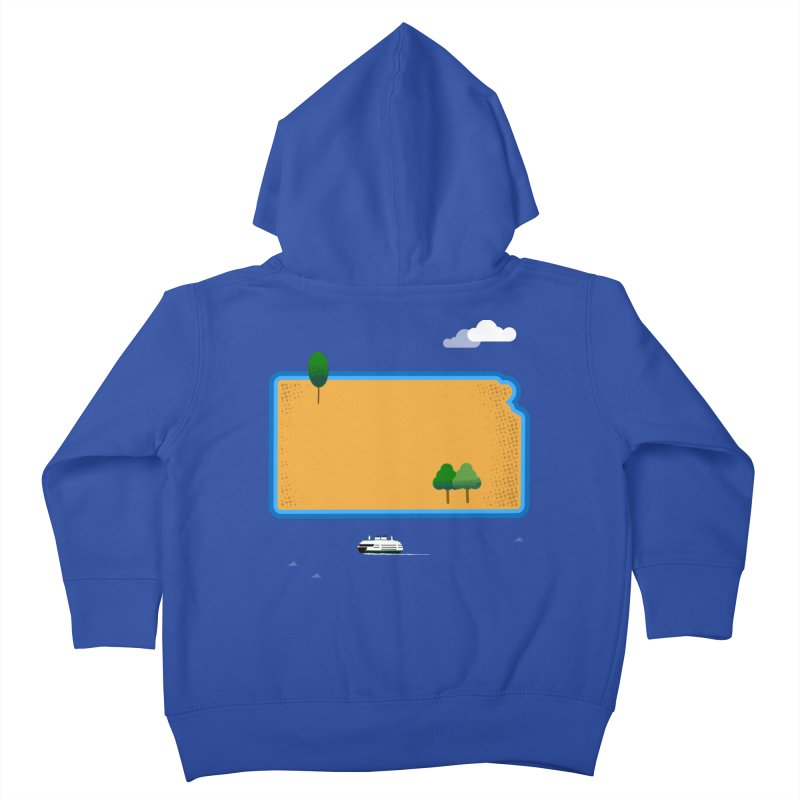 Kansas Island Kids Toddler Zip-Up Hoody by Illustrations by Phil