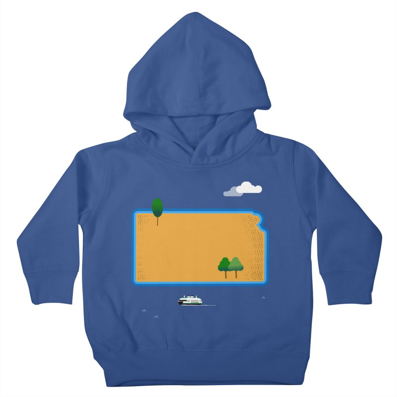 Kansas Island Kids Toddler Pullover Hoody by Illustrations by Phil