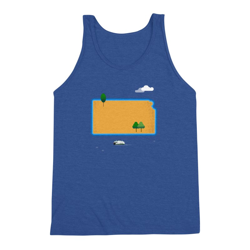 Kansas Island Men's Tank by Illustrations by Phil