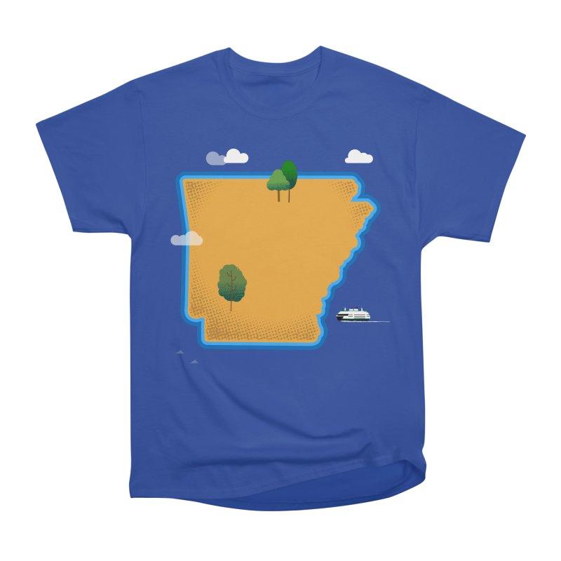 Arkansas Island Men's Heavyweight T-Shirt by Illustrations by Phil