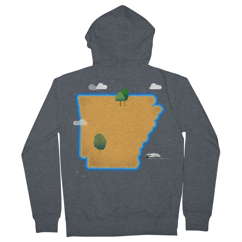 Arkansas Island Women's French Terry Zip-Up Hoody by Illustrations by Phil