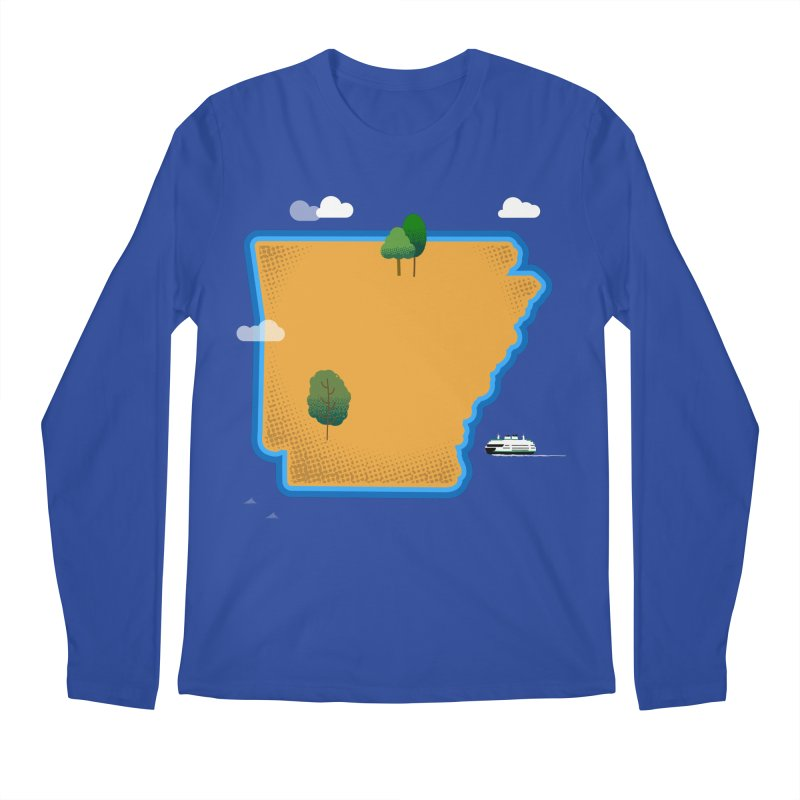 Arkansas Island Men's Regular Longsleeve T-Shirt by Illustrations by Phil