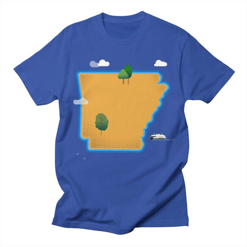 Arkansas Island Men's Regular T-Shirt by Illustrations by Phil
