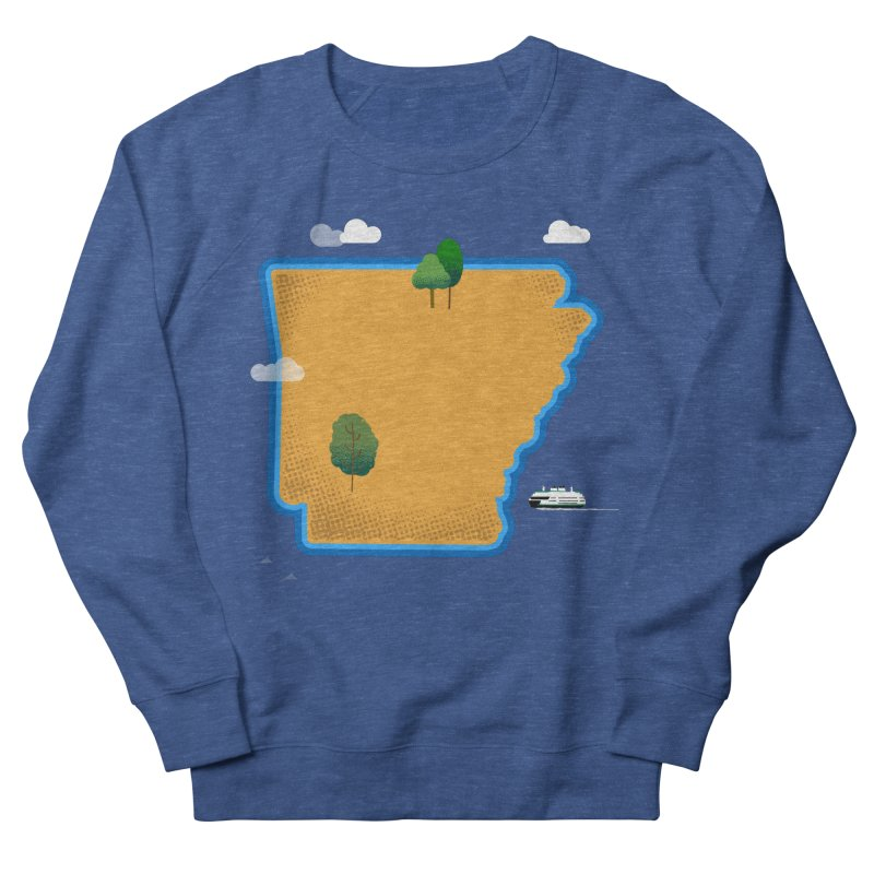 Arkansas Island Women's French Terry Sweatshirt by Illustrations by Phil