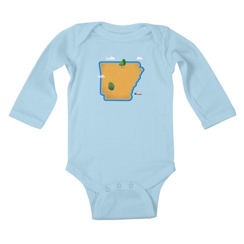 Arkansas Island Kids Baby Longsleeve Bodysuit by Illustrations by Phil