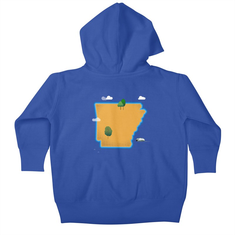 Arkansas Island Kids Baby Zip-Up Hoody by Illustrations by Phil