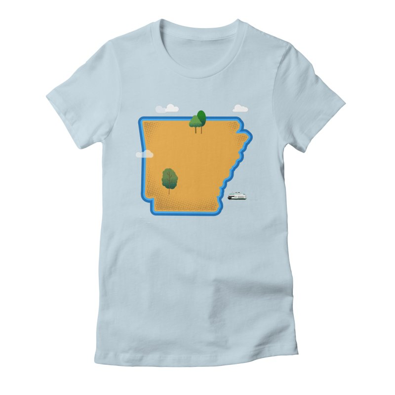 Arkansas Island Women's Fitted T-Shirt by Illustrations by Phil