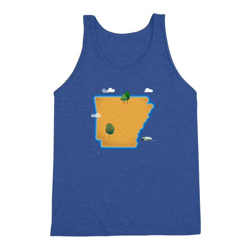 Arkansas Island Men's Triblend Tank by Illustrations by Phil