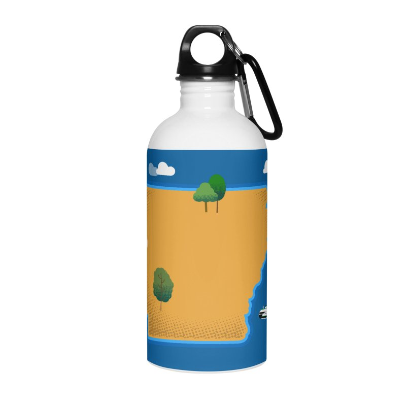 Arkansas Island Accessories Water Bottle by Illustrations by Phil