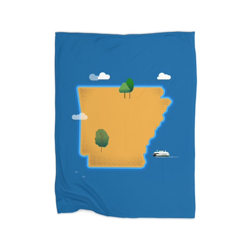 Arkansas Island Home Blanket by Illustrations by Phil