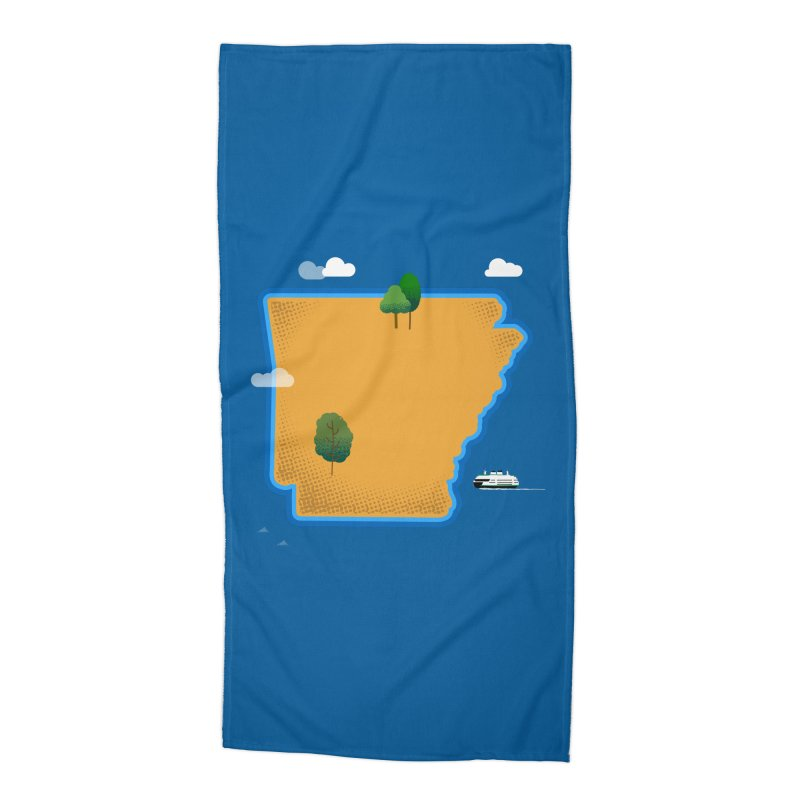 Arkansas Island Accessories Beach Towel by Illustrations by Phil
