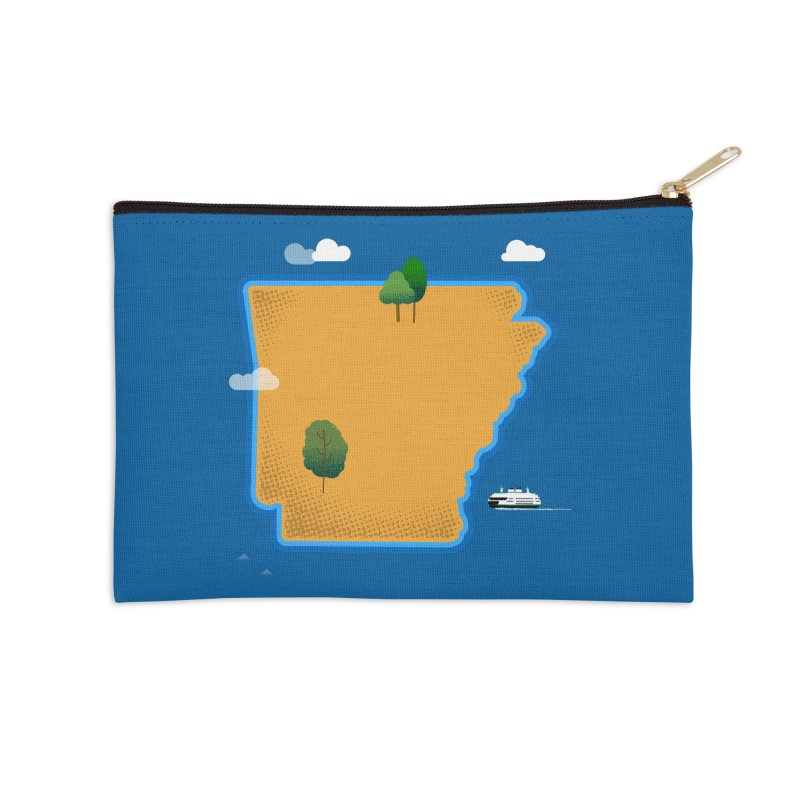 Arkansas Island Accessories Zip Pouch by Illustrations by Phil