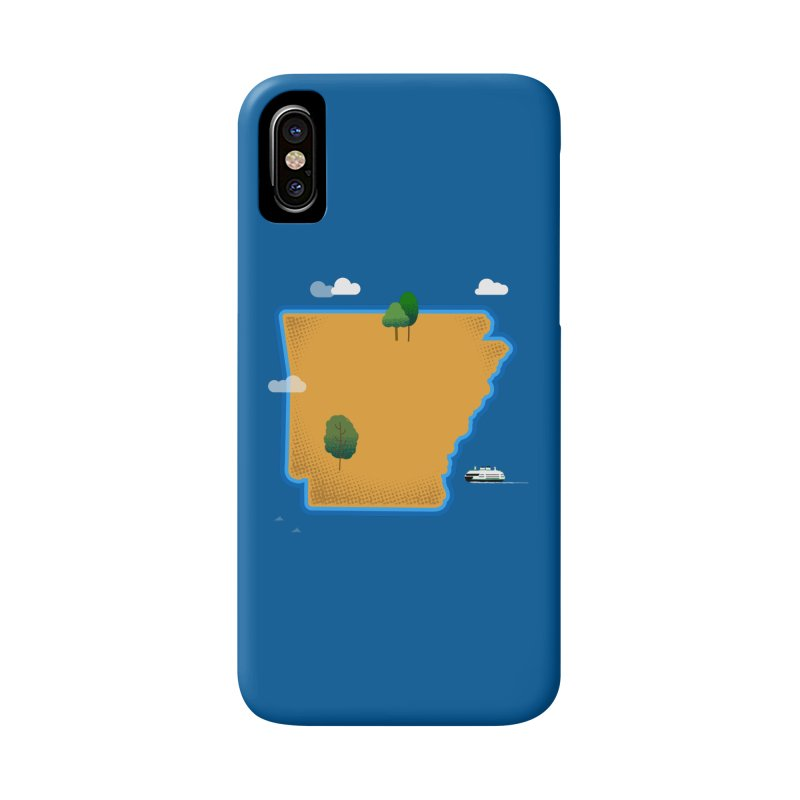 Arkansas Island Accessories Phone Case by Illustrations by Phil