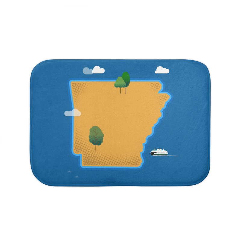 Arkansas Island Home Bath Mat by Illustrations by Phil