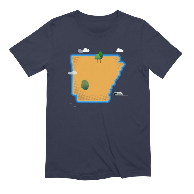 Arkansas Island Men's Extra Soft T-Shirt by Illustrations by Phil