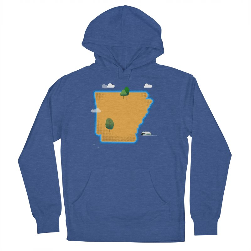 Arkansas Island Women's French Terry Pullover Hoody by Illustrations by Phil