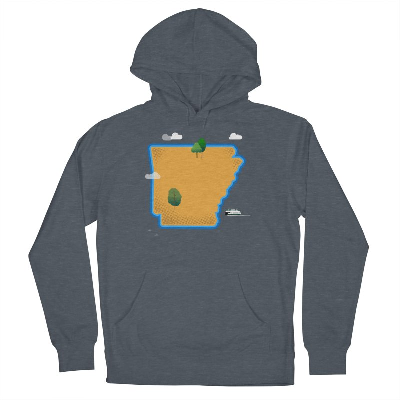 Arkansas Island Men's French Terry Pullover Hoody by Illustrations by Phil