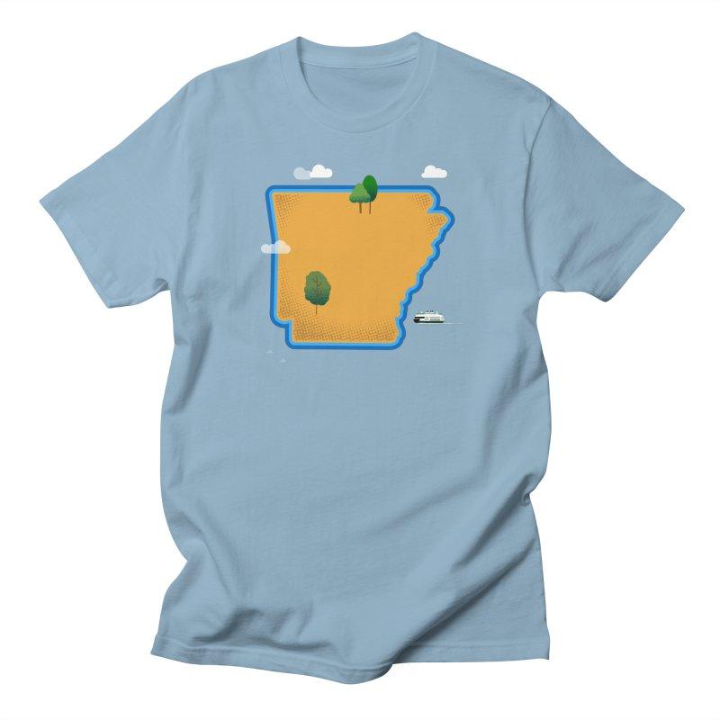 Arkansas Island Women's Regular Unisex T-Shirt by Illustrations by Phil
