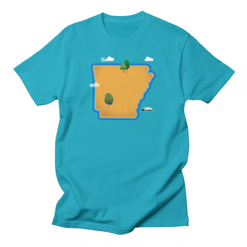 Arkansas Island Men's T-Shirt by Illustrations by Phil