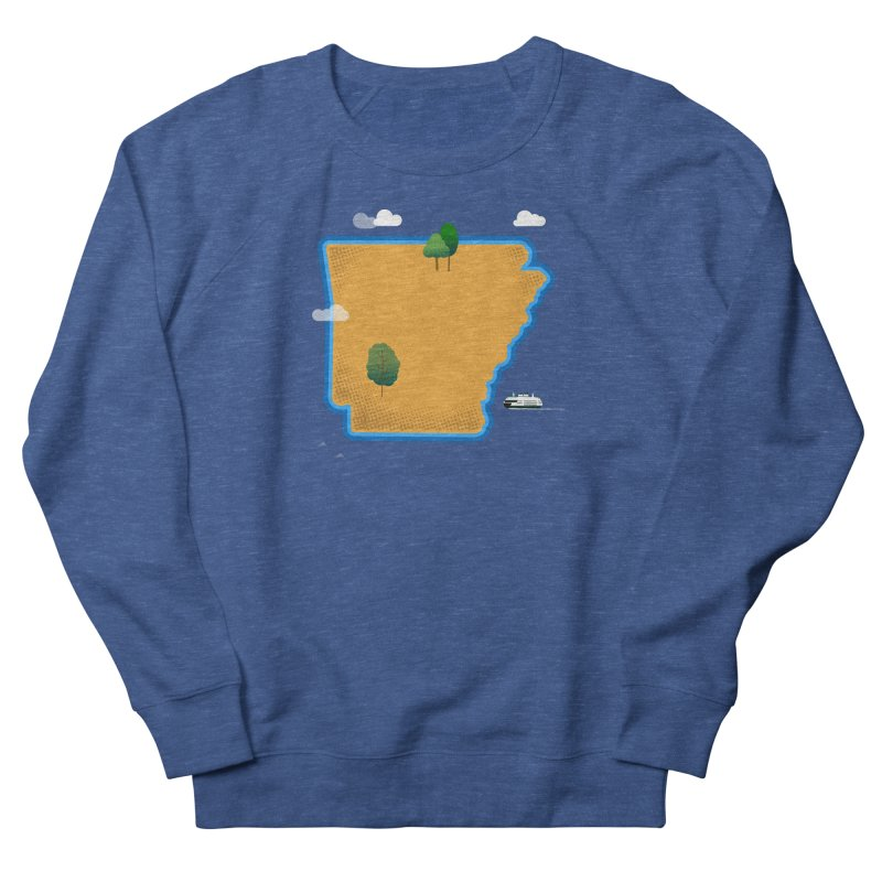 Arkansas Island Men's French Terry Sweatshirt by Illustrations by Phil