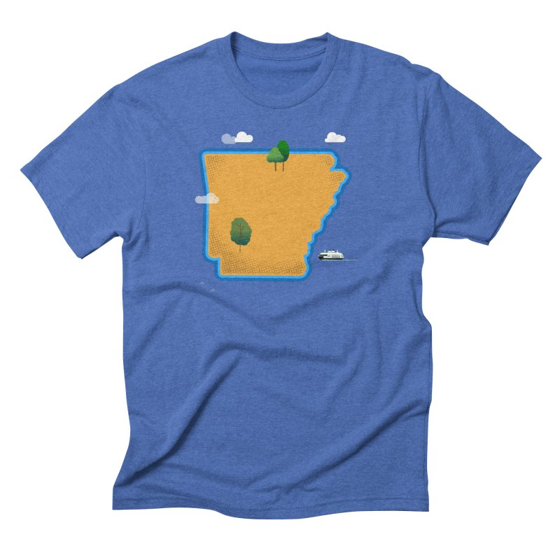 Arkansas Island Men's Triblend T-Shirt by Illustrations by Phil