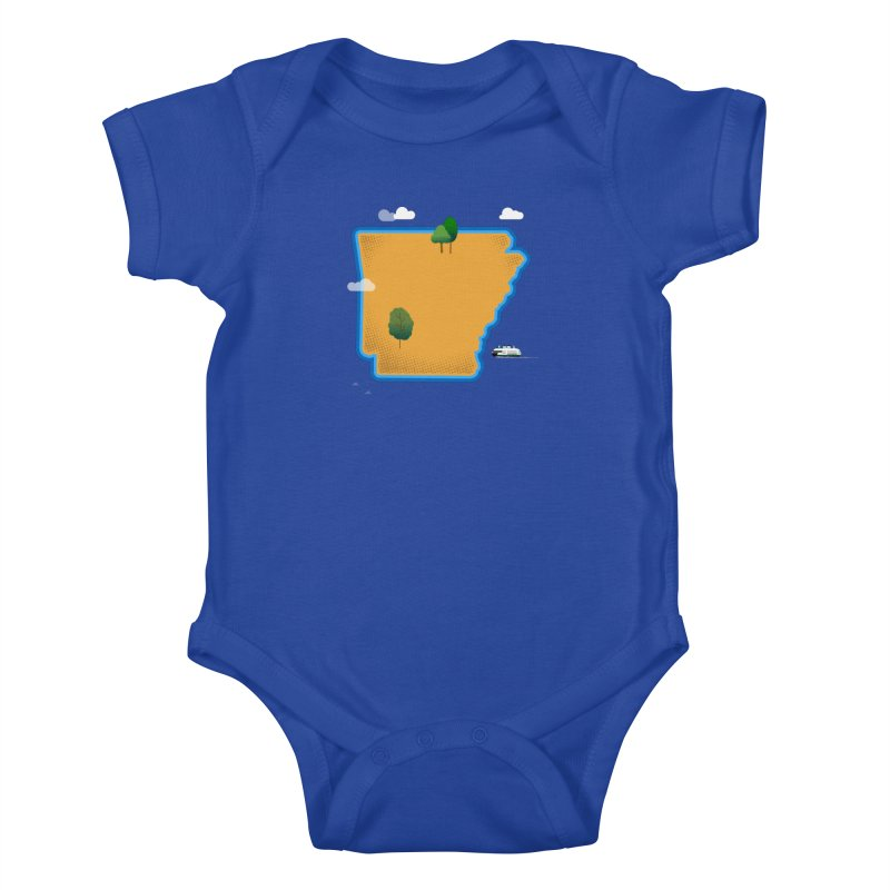 Arkansas Island Kids Baby Bodysuit by Illustrations by Phil