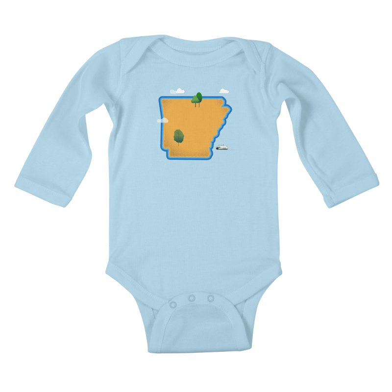 Arkansas Island Kids Baby Longsleeve Bodysuit by Illustrations by Phil