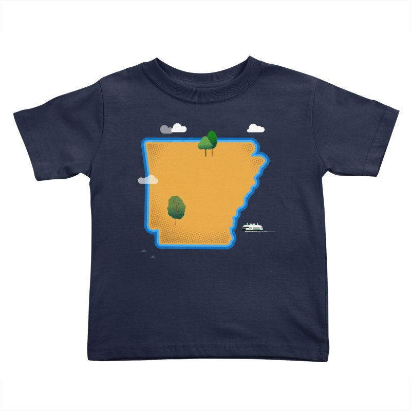 Arkansas Island Kids Toddler T-Shirt by Illustrations by Phil