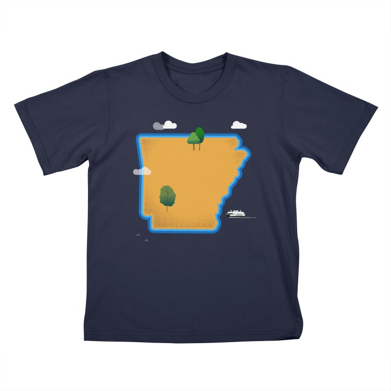 Arkansas Island Kids T-Shirt by Illustrations by Phil