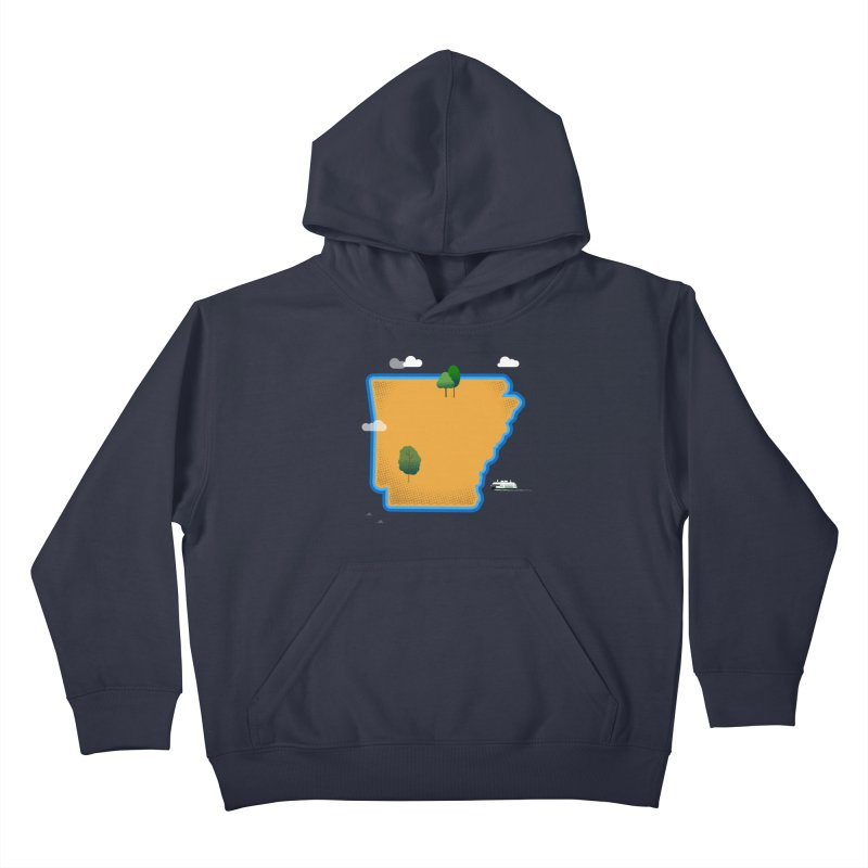 Arkansas Island Kids Pullover Hoody by Illustrations by Phil