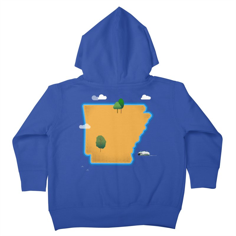 Arkansas Island Kids Toddler Zip-Up Hoody by Illustrations by Phil