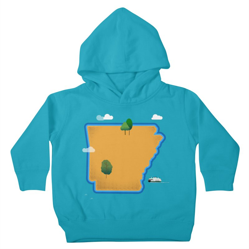 Arkansas Island Kids Toddler Pullover Hoody by Illustrations by Phil