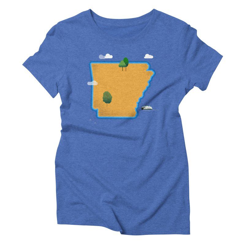 Arkansas Island Women's Triblend T-Shirt by Illustrations by Phil