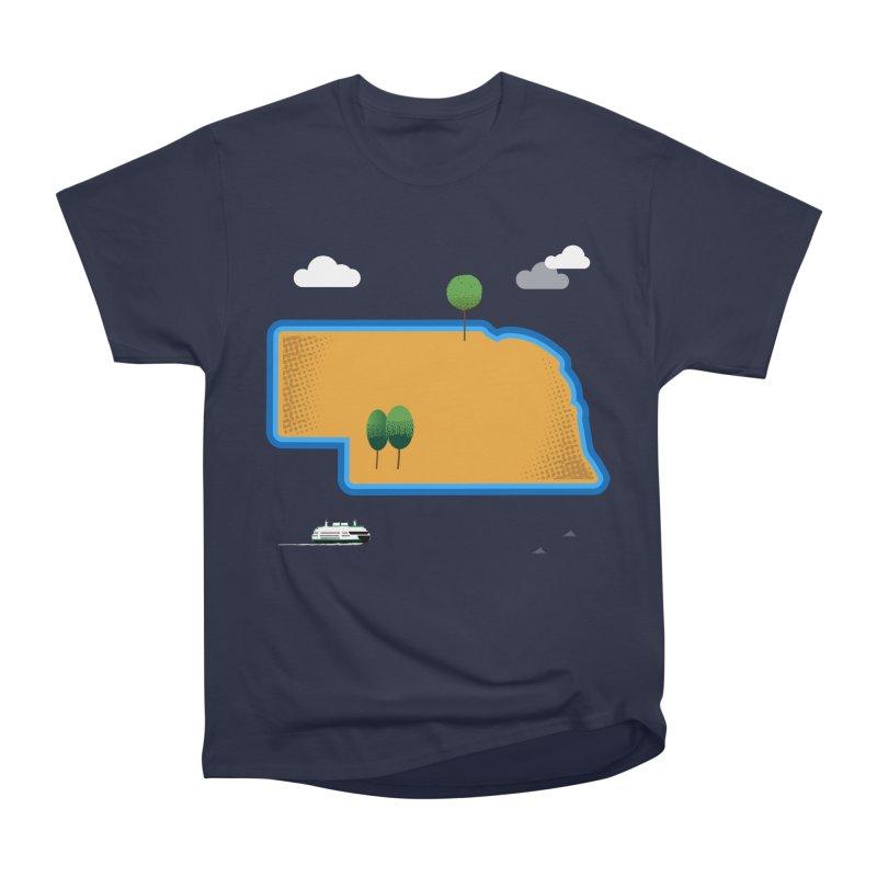 Nebraska Island Men's Heavyweight T-Shirt by Illustrations by Phil