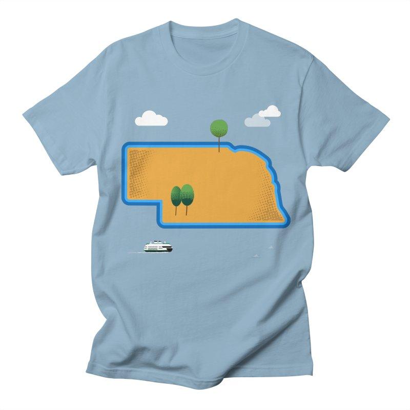 Nebraska Island Men's Regular T-Shirt by Illustrations by Phil