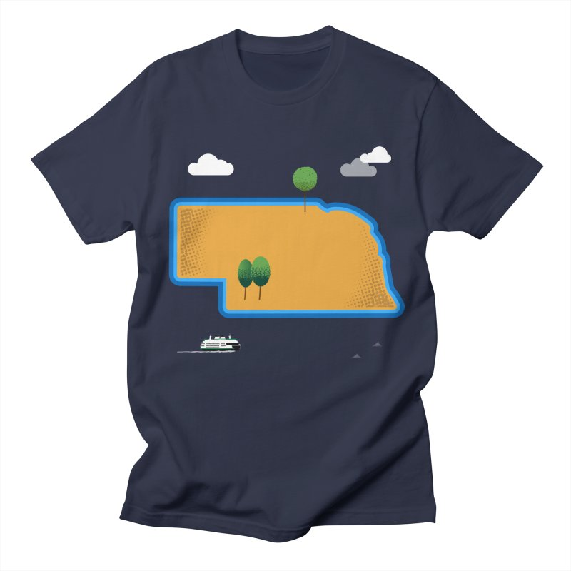Nebraska Island Women's Regular Unisex T-Shirt by Illustrations by Phil