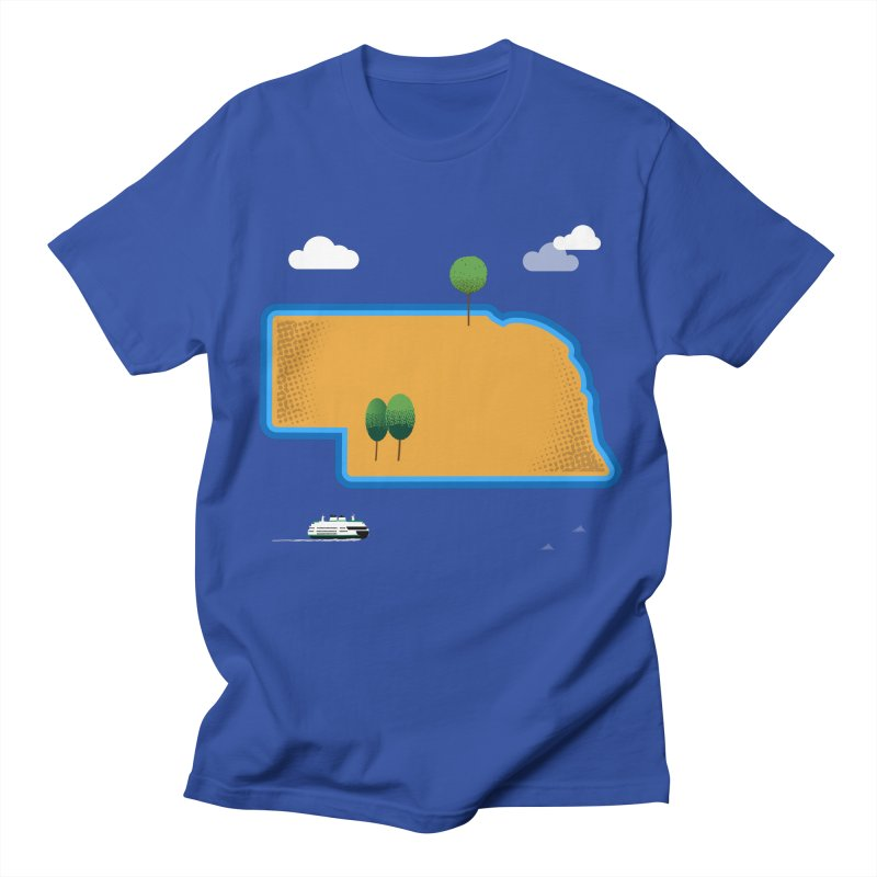 Nebraska Island Women's Regular Unisex T-Shirt by Illustrations by Phil